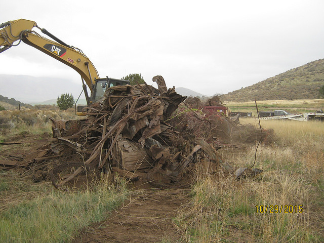 Scrap Metal from the Stockton Dump was recycled.